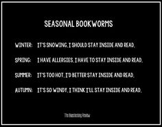 Seasonal #Bookworms #lovetoread