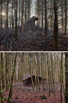 Installation Art, Art Installations, Colossal Art, Forest Floor, Tree Forest, Land Art, Metal Casting, Stone Carving, Beautiful Artwork