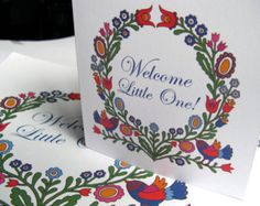 New baby card, welcome baby card, baby shower card, birth announcement card