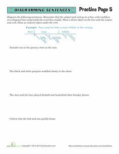 Worksheets: Sentence Diagramming Practice #5