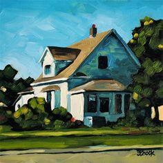 """White House"" - Original Fine Art for Sale - © Sharon Schock"