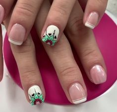 Nails design ideas classy Ideas is part of nails - nails Henna Nails, Toe Nail Designs, Nails Design, Cute Nail Art, Finger, Accent Nails, Flower Nails, French Nails, Manicure And Pedicure