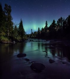 #aurora reflection as seen in Tofte MN by TJ Spence on October 2nd.