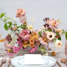 ethereal wedding tablescape and escort cards Wedding Table Centerpieces, Wedding Table Settings, Wedding Reception Decorations, Floral Centerpieces, Floral Arrangements, Floral Wedding, Wedding Flowers, Silk Flower Bouquets, Ethereal Wedding