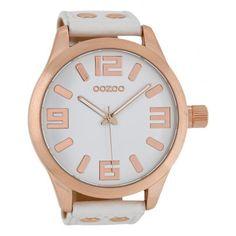 Modische OOZOO Uhr https://www.uhrcenter.de/uhren/oozoo/timepieces/oozoo-xxl-herrenuhr-weiss-rosegold-c1100/