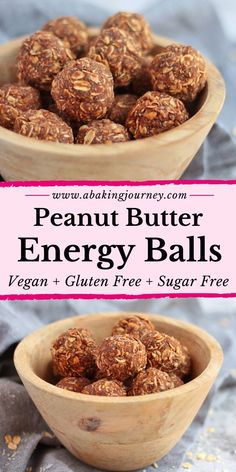 These Vegan Raw Peanut Butter Balls are the best healthy sweet treat around! The super easy Chocolate Peanut Butter Energy Balls Recipe is a great healthy treat for kids, toddlers and adults. Healthy Treats For Kids, Healthy Dessert Recipes, Vegan Snacks, Healthy Baking, Eating Healthy, Healthy Meals, Peanut Butter Energy Balls Recipe, Raw Peanut Butter, Healthy Energy Balls Recipe