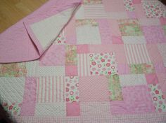 baby quilt patterns | Disappearing 9-patch~1st Baby Girl Quilt b... | Quilting Ideas