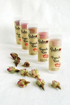 Our range of French Kiss shimmer lip balm is made with French rose buds infused in sweet almond oil and lightly scented with Rose absolute and Geranium essential oils. It is a perfect marriage between a moisturising lip balm and a touch of shimmer/colour. Our French Kiss shimmer lip balms will help to enhance the natural colour of your lips!