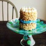 Confetti cake stand.So very pretty!