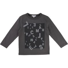 Long Sleeve Essential Little Marc Jacobs Tee Dark Gray