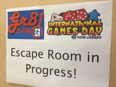 Escape the library! You and your team will have 15 minutes to solve a series of riddles, decipher the clues, and find the key to escape! Do you have the brainpower and teamwork skills needed to win… Library Games, Teen Library, Library Events, Library Skills, Library Activities, Activities For Teens, Library Lessons, Library Books, Library Ideas