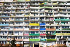 Balkony w jednym z falowców / #Balconies in one of the #block of flats   #gdansk