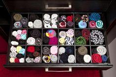 Organized drawer with rolled up underwear and socks - Omer Yurdakul Gundogdu/E+/Getty Images