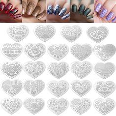 Placas de estampado de uñas de arte imagen del sello del patrón del pájaro de la flor plantilla de diseño de la manicura DIY de la plantilla