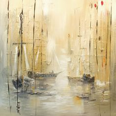 [New] The 10 Best Home Decor Today (with Pictures) Sailboat Art, Sailboat Painting, Art Aquarelle, Abstract Canvas Art, Creative Art, Photo Art, Art Photography, Artwork, Boats