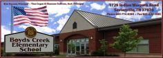 Boyd's Creek Elementary (K-8) 1729 Indian Warpath Road  Sevierville, Tennessee 37876 865-774-8285  School Website