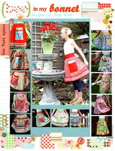 Bee in My Bonnet  1 Yard Apron Pattern FREE by spiceberrycottage, $13.50