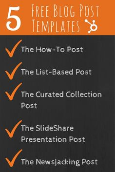 Essential templates that any marketer can use to quickly create blog posts.