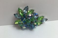 DeLizza & Elster Juliana Paisley Sea Green Sky Blue Brooch by SunsetMountainShop on Etsy https://www.etsy.com/listing/268046278/delizza-elster-juliana-paisley-sea-green