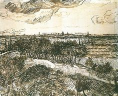 View of Arles from a Hill, 1888 Vincent van Gogh