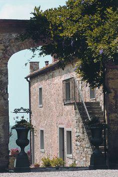 Entrance to the garden, main villa