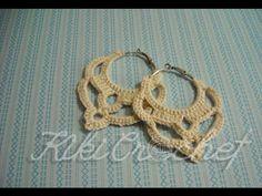 Πλεκτα Vintage Σκουλαρικια με Βελονακι/ Crochet Vintage Earrings Tutorial (english subs) - YouTube