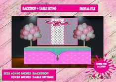 BACKDROP partyTable Top partybackdrop Birthdy Birthday