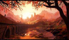 ArtStation - Sunrise - Stylized landscape in Unreal 4, Martin Teichmann