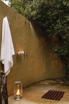 showers at Sabi Sabi Fish Bush Camp, South Africa