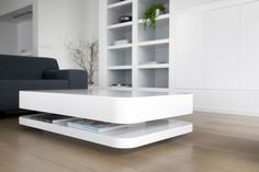 Odesi - RKNL 20 by Ronald Knol. Available in two colors white and off-white, and two size 120 x 70 and 150 x 90. And you can choose gloss finishing or satin finishing. Please visit our website for more details http://www.odesi.nl/rknl20-salontafel