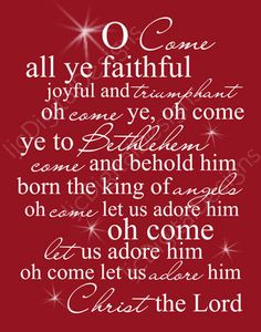 13 Best O Come All Ye Faithful images in 2019 | Christmas music, Christmas holidays, Merry ...