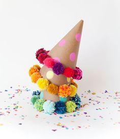 Party on with DIY pom pom hats.