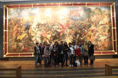 W Muzeum Narodowym w Warszawie podczas wizyty partnerów.