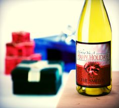 Christmas is ONLY six months away. Better start preparing now with a customized wine bottle! http://www.personalwine.com