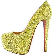 Christian Louboutin Daffodile 160 Pumps Yellow [CL201231] - $105.00 : Designershoes-shopping, World collection of Top Designer high heel UP TO 90% OFF!
