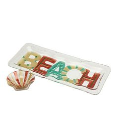 Take a look at this 'Beach' Chip & Dip Set by DEMDACO on #zulily today!