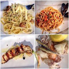 Tagliatelle alle vongole, spaghetti ai moscioli selvatici di Portonovo, ombrina e frittura, specialità culinarie del pescato marchigiano