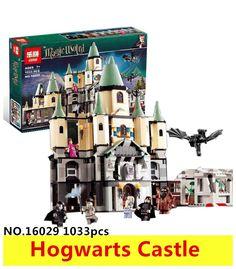 48.96$  Watch now - 1033Pcs 16029 Model building kits compatible with lego Harry Potter Bricks Magic Hogwort Castle 3D blocks model building toy  #buymethat