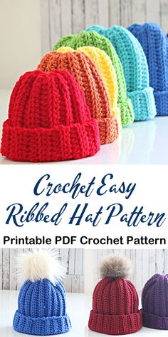 13 Sewing Hacks You Probably Didn't Know- Whether you are a sewing pro or simply a beginner sewing it is obviously helpful to have some sewing tips. Easy Crochet Hat, Crochet Adult Hat, Crochet Beanie Pattern, Crochet Baby Hats, Easy Crochet Patterns, Crochet Crafts, Crochet Stitches, Free Crochet, Knitted Hats