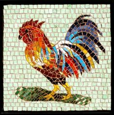 Mosaic Rooster | ... of Fine Art Mosaics - Mosaics at the Mill - A Show of Mosaic Art