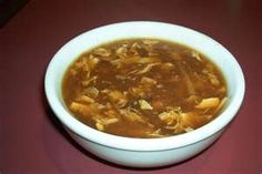 Panda Express Hot and Sour Soup Copycat Recipe Makes 8 Cups 6 cups chicken broth 2 tablespoons soy sauce cup button mushro. Hot And Sour Soup Recipe Easy, Thai Hot And Sour Soup, Hot And Sour Broth, Healthy Soup Recipes, Cooking Recipes, Healthy Food, Panda Express Recipes, Sandwiches, Asian Soup