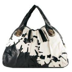 0dba3c57609 Pre-Owned Gucci Embroidered Leather  Hysteria  Handbag Purse Black Multi  White