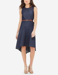 Hi-Low Chambray Dress