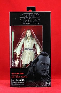 "Qui-Gon Jinn Jedi Master Star Wars the Black Series 6"" Inch Action Figure #Hasbro"