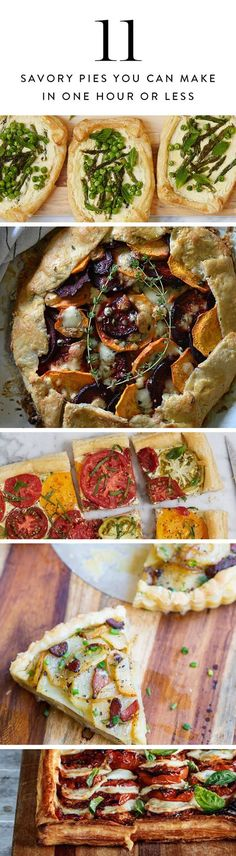 Raise your hand if you love pie. Us, too. So why shouldn't you eat it for dinner? Here are 11 savory pies, tarts and galettes that come together in under an hour. Bon appétit.