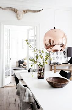 A home in Denmark. / Photo from Femina. ++ via from scandinavia with love