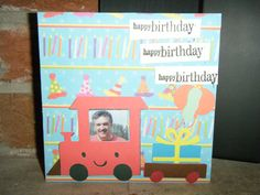 Train themed birthday card