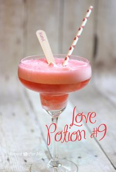Love Potion #9 Valentine's Day Drink.  repeatcrafterme.com