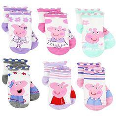 Peppa Pig Girls 6 pack Socks Pig Girl, My Baby Girl, Diaper Bag, 6 Pack, Kids Socks, Julia, Cool Socks, Toy Boxes, Peppa Pig