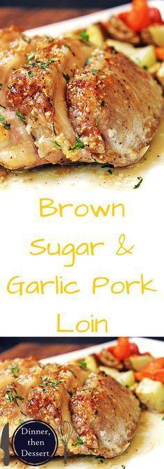 Brown Sugar Garlic Pork with Carrots & Potatoes - Dinner, then Dessert